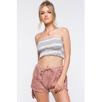 Women Catch Me Crochet Shorts Mauve 102658807 BDEQJWV
