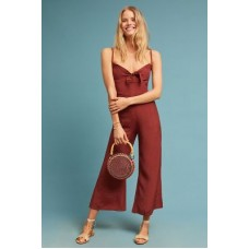 Anthropologie Women Faithfull Presley Cropped Jumpsuit WINE We have found this style runs small; we recommend sizing up for an ideal fit Viscose 4123099510012 OFBIIOJ