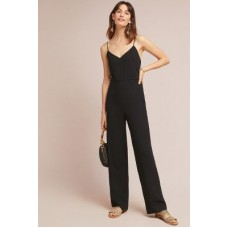 Anthropologie Women The Essential Strappy Jumpsuit BLACK An Anthropologie exclusive Viscose 4123348696462 EKBOCAG