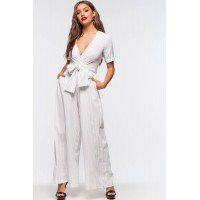 Women Brentwood Stripe Jumpsuit White Pattern 102659682 BSXIAVQ