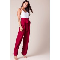 Women Brooklyn Paperbag Jumpsuit Wine/Burgundy 103155013 UOJKKGE