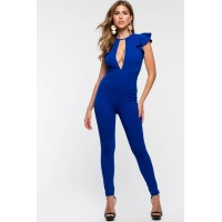 Women Eliza Ruffle Jumpsuit Royal 103759263 HGFJSAA
