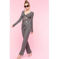 Women Julia Knot Jumpsuit Gray 103258549 IRJKTKK