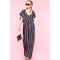 Women Laylana Stripe Jumpsuit Blue Pattern 103553679 KWRCPRH