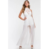 Women Monte Carlo Playsuit White 102659851 MEYZYZA