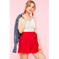 Women Sweetie Lace Romper Red 102859262 VUHAEHT