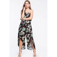 Women Tropical Breeze Jumpsuit Black Print 103411224 JGUSRQL