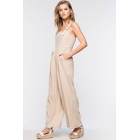 Women Wishful Thinking Linen Jumpsuit Taupe/Khaki 103115601 FZUYIUY