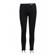 2nd One Women Nicole 002 Tie Satin Black Jeans Skinny Medium rise waist 14742883 XKXGZBR