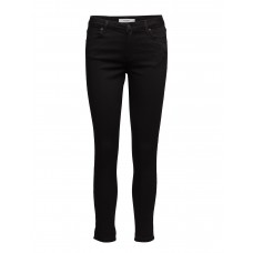 2nd One Women Nicole 006 Crop Moon Black Satin Split Jeans Slim-fit An everyday essential 16648388 APQMMRM