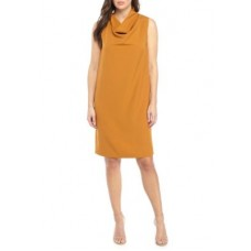 Anne Klein Women Madison Cowl Neck Dress Pueblo FUHGWUO