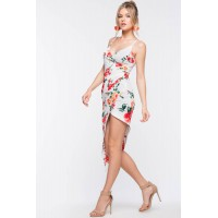Women Growing Together Origami Dress White Print 103006991 YXIXWPE