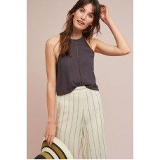 Anthropologie Women Cloth & Stone Cutout Halter Top BLACK We have found this style runs large; we recommend sizing down for an ideal fit Lyocell 4110259830068 HYOTPMM