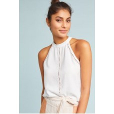Anthropologie Women Cloth & Stone Cutout Halter Top WHITE We have found this style runs large; we recommend sizing down for an ideal fit Lyocell 4110259830068 MNCWSAF