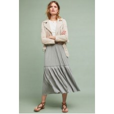Anthropologie Women Tracy Reese Plisse Jersey Skirt LIGHT GREY Polyester rayon; nylon spandex lining*Maxi silhouette Pullon styling 4120204580020 MQAOGQW