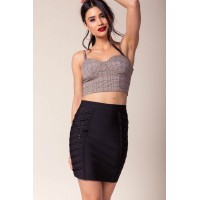 Women Cassy Lace Up Bandage Skirt Black 102006981 WURGZBQ