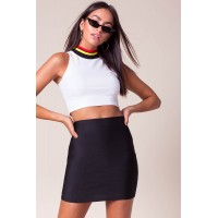 Women Valencia Bandage Mini Skirt Black 103804183 DOLOLSU