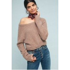 Anthropologie Women Lavinia Fleece Pullover TAUPE 39% nylon 28% polyester 26% wool 5% alpaca wool 2% spandex Pullover styling 4114326952949 APKDLIF
