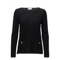 Davida Cashmere Women Front Pockets Box Sweater WITH GOLD BUTTONS Classic/ Regular Fine wash at max. 30˚C 18585674 SLPELEP