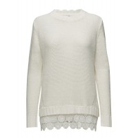 Cream Women Shawly Pullover Knitted 15630677 ZXNCVBA