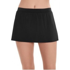 Caribbean Joe Women Shaping Swim Skirt Black LVXZWCR