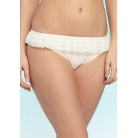 kate spade new york Women Point Loma - Ruffle Bikini Bottom Cream LOGOUUK