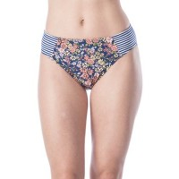 Kenneth Cole Reaction Women Twinning Floral Striped Swim Hipster Multi JUFZGQO