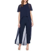 Trina Turk Women Capote Jumpsuit Indigo Invisible zip closure U-neck CEIPQLU