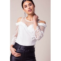 Women Anessa Mesh Top White 103710064 CXGTBLU