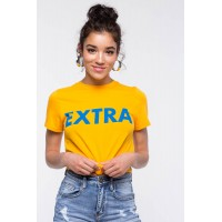 Women Extra Knot Front Tee Yellow 103056795 UBFHUTB