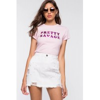 Women Pretty Savage Tee Blush 103255495 DQSENGJ