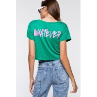Women Whatever Boxy Tee Kelly 103406935 THIXUEV
