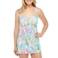 Kim Rogers Women Printed Swim Dress Sea Jewel Multi YXBFIOB