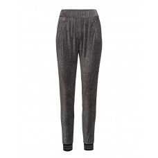 2nd One Women Miley 058 Silver Glitter Pants Casual/ Loose Fit Slightly tapered legs 16922158 PBBWKEX
