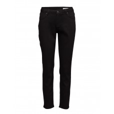 2nd One Women Noora 002 Satin Black Jeans Regular Medium rise waist 16648210 WBJQAOL