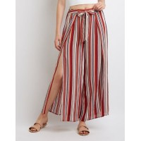 Charlotte Russe Women Striped Palazzo Pants MULTI 302559584 DQPEYGV